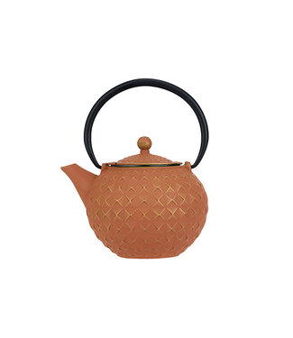 Cosy & Trendy Sakai - Teapot With Filter - Gold terracotta - 1l - Cast iron.