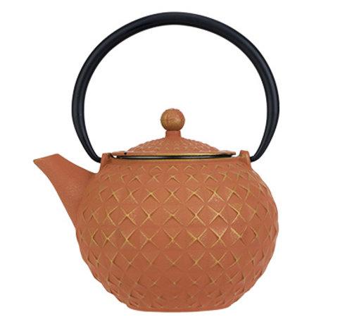 Cosy & Trendy Sakai Teapot Gold-terracotta 1l Castiron