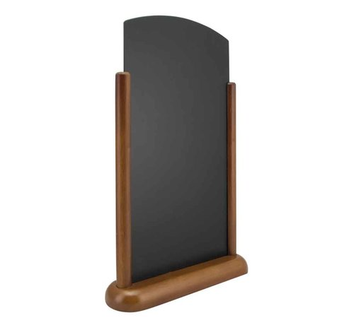 Securit Elegant Top Table Chalkboard Blackwood With Lacquered Brown Finish