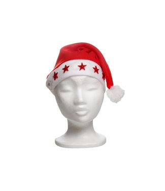 Goodmark Kerstmuts Fleece Sterrenlichtjesvolwassenen - Incl 2 Knoopcelbatt (set van 24)