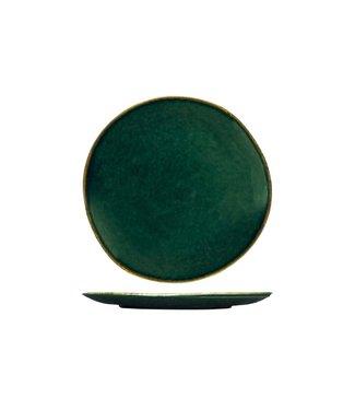 Cosy & Trendy Otylia - Groen - Dessertbord - D20.6cm - Keramiek - (Set van 6)