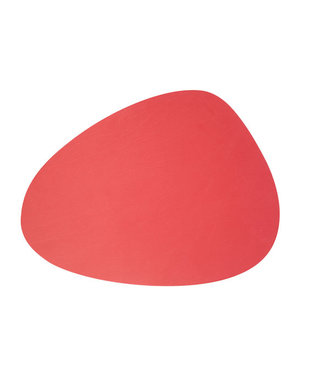 Cosy & Trendy Placemat Leather Red Oval-conic 41x30cm (12er Set)
