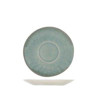 Cosy & Trendy Jacinto-Green - Coffee saucer - D14.5cm - Porcelain - (Set of 6).