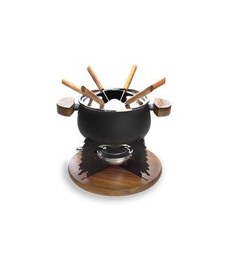Cosy & Trendy Fondue set - Black - 2l - 6 Pers - Metal.