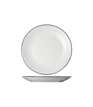Cosy & Trendy Speckle White Dinner Plates - D27cm - Black Board (set of 6)