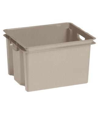 Keter Crownest - Aufbewahrungsbox - 30 Liter - Taupe - 42,6 x 36,1 x 26 cm - (6er-Set)