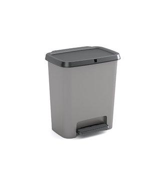 Kis Compatta Recycling Afvalemmer Grijs Zwart 38x28x43cm 2x20l.