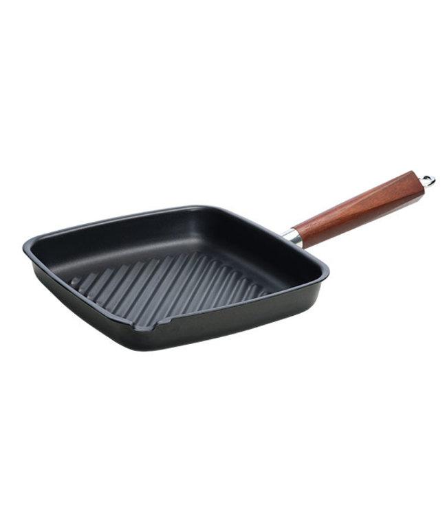 Cosy & Trendy Authentic Cook - Grillpan - Zwart - 28x26cm - Koolstofstaal