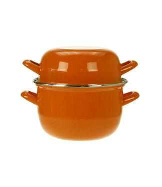 Cosy & Trendy For Professionals Horeca Mosselpot 1,2kg Oranje 2,8l 18cm1kg (set van 6)