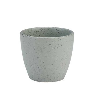 Cosy & Trendy Punto-Grey - Beker - 24cl - D9xh8,7cm - Keramiek - (set van 6)+