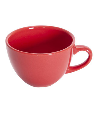 Cosy & Trendy Serena-Red - Coffee cup - 20cl - Ceramic - (set of 6)