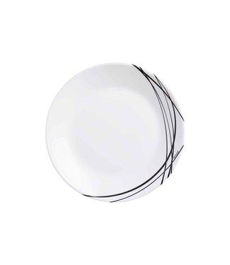 Arcopal Domitille - Dessertbord - Zwart - 18cm - Glas - (Set van 6).