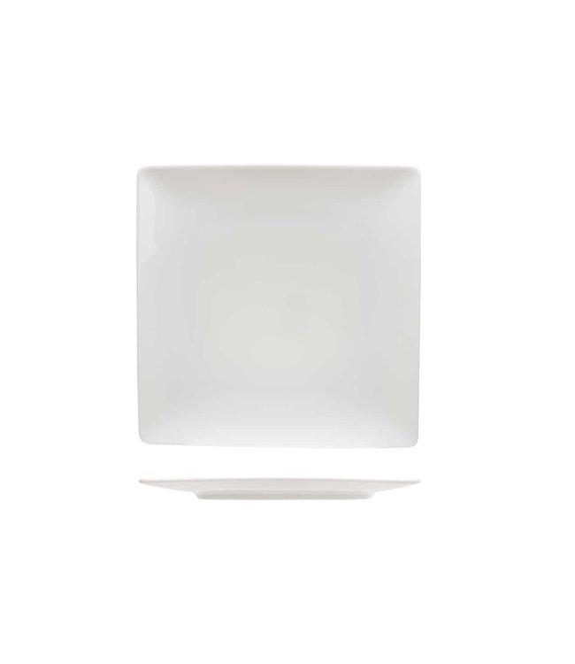 Cosy & Trendy Azia  Dessertborden Vierkant  - 20x20cm   - Aardewerk - (Set van 6)