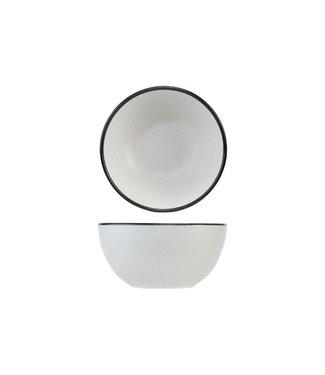 Cosy & Trendy Speckle2 - Bowl - Wit - D14xh7,2cm - Keramiek - (set van 6).