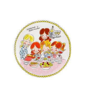 Blond Amsterdam Even Bijkletsen Dinner Plate Girls D26cm