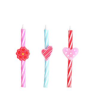 Cosy & Trendy For Kids Mini-kaars - Love - 0,5xh8cm - (set van 6) .