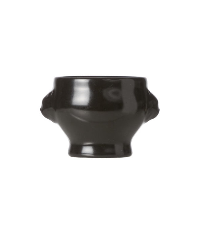 Cosy & Trendy Aperopotje - Zwart - D5.5xh4.5cm - Leeuwenkop - Keramiek - (set van 6)