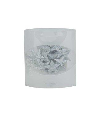 Eurosand Strooideco Diamond Stars 36mm Box 155mlzilver 3,6x3,6xh3,6cm Acryl (set van 10)