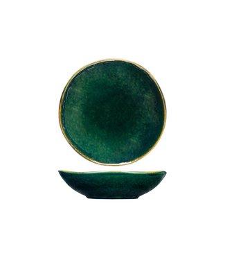 Cosy & Trendy Otylia Groen Diepe Borden D20,5xh5,8cm - Aardewerk - (set van 6)
