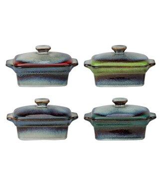 Cosy & Trendy Jamiro-Mix - Ovenpotje - 13x9xh5.3cm - 35cl - Keramiek - (set van 4).