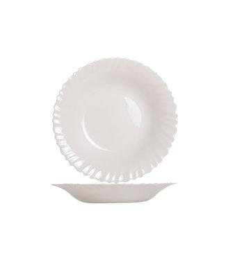 Luminarc Feston Servies - Diepe Borden - Wit - D21cm - Opaal - (set van 6)