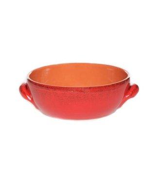 De Silva Red Patine Casserole 2handles 18cm