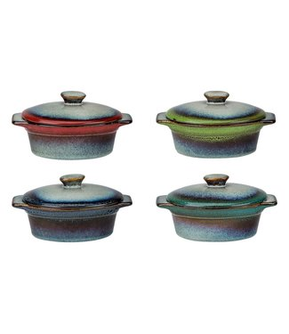 Cosy & Trendy Jamiro-Mix - Oven pot - 13x9.5xh5.5cm - 30cl - Ceramic - (set of 8)