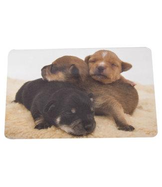 Ricolor Snijplank Puppies 23.5x14.5cmrechthoek