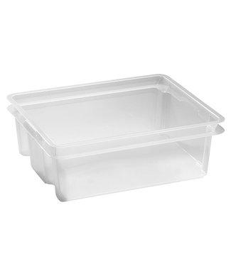 Keter Crownest - Aufbewahrungsbox - 17 Liter - Transparent - 43x36x14,5 cm - (4er-Set)