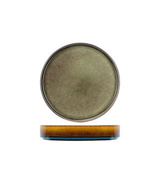 Cosy & Trendy Quintana - Groen - Diepe Borden - Porselein - D23xh4,3cm - (set van 6)