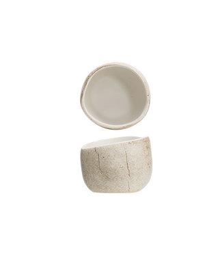 Cosy & Trendy Lithos - Apero jar - D6.5xh5.2cm - Ceramic - Beige - (set of 4).