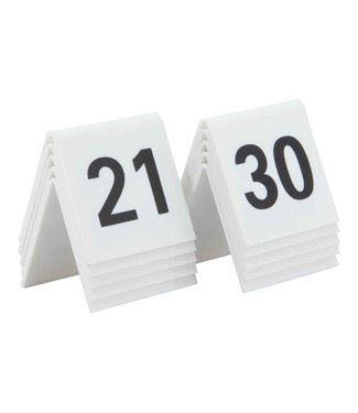 Securit Signs Set10 Tablenumbers White 21-30acryl 5.2x5.2x4.5cm