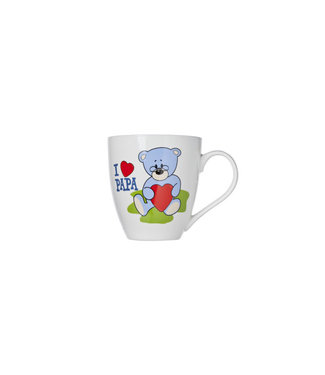 Brandless Mug 55cl Deco Bear 'i Love Papa'd10.5xh11.5cm (6er Set)