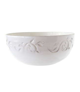 Cosy & Trendy Feston-Vine - Saladier - 2L - D22cm - Cream - Ceramic - (set of 2)