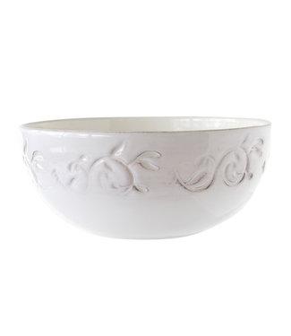 Cosy & Trendy Feston - Vine - Saladier - 2l - D22cm - White - With patina - (set of 4)