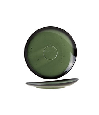 Cosy & Trendy For Professionals Vigo - Green - Saucer - D16cm - Porcelain - (set of 6)