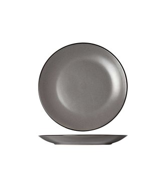 Cosy & Trendy Speckle Grey Dinner Plate D27cmblack Rim