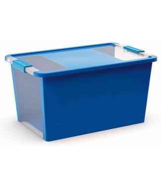 Kis Bi-box - Storage box - L - Blue - 40 liters - 58x35,2xh44,5cm - (set of 5)