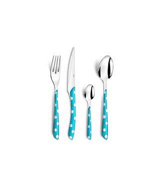 Amefa Retail Eclat Dots - Turqouise - Cutlery Set - 24 Pieces - Stainless steel 18/0