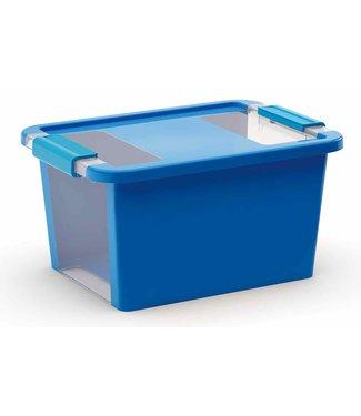 Kis Bi-box - Opbergbox - S - Blauw - 11 Liter - 36,5x26xh19cm - (set van 7).