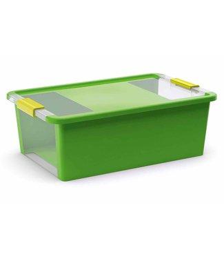 Kis Bi-box Storage Box M Green 26l 55x35xh19cm