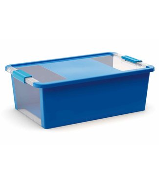Kis Bi-box - Opbergbox - M - Blauw - 26 Liter - 55x35xh19cm - (Set van 7)