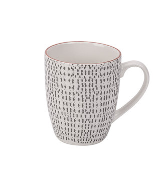 Cosy & Trendy Dylana-Gray - Cup - 30cl - Ceramic - (set of 6)