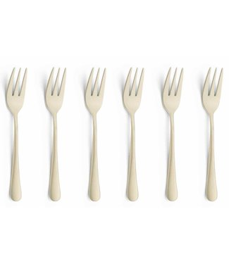 Amefa Austin - Pastry Fork - Champagne  - Stainless steel - (Set of 12)