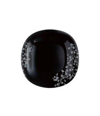 Luminarc Ombrelle Servies - Borden - Zwart - D27cm - (Set van 6)