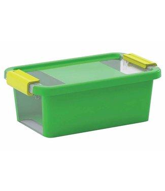 Kis Bi-box - Opbergbox Xs - Groen - 3 Liter - 26,5x16xh10cm - (Set van 5)
