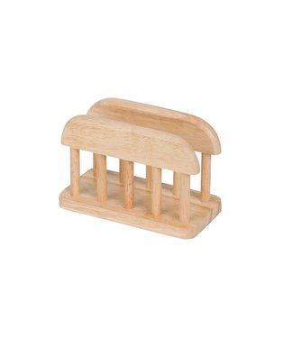 Cosy & Trendy Napkin holder - Natural - 15x7.5xh10cm - Wood - (set of 4).