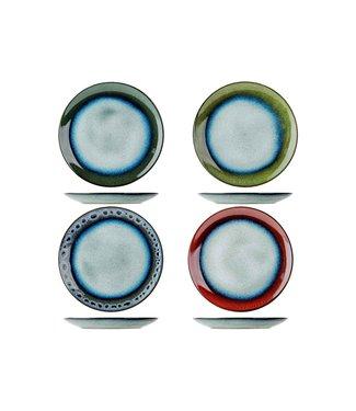 Cosy & Trendy Jamiro-Mix - Teller - D23,5cm - Keramik - (8er Set)