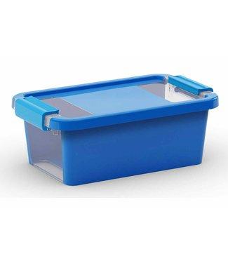 Kis Bi-box - Opbergbox - Xs - Blauw - 3L - Kunststof - (set van 5)