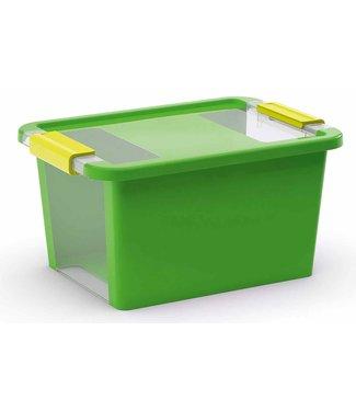 Kis Bi-box - Storage box S - Green - 11 Liter - 36,5x26xh19cm - (Set of 7)